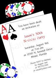 poker party invitation diy printable party invitation 4x6 or