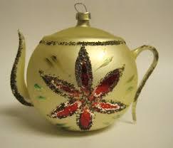tea with friends vintage glass teapot ornaments