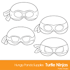 teenage mutant ninja turtles coloring page within turtle mask