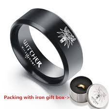 black box rings images Hot game the witcher 3 ring wild hunt medallion gold stainless jpg
