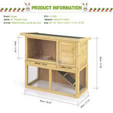 Pet Hutch Ikayaa Multi Use Outdoor Rabbit Hutch Animal House Chicken Coop