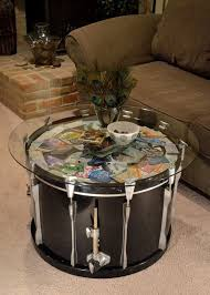 Metal Drum Accent Table Living Room Awesome Marble Metal Drum Coffee Table West Elm Inside