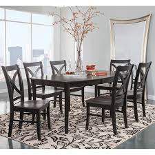 cosmopolitan coal black dining room 7 piece set butterfly leaf cosmopolitan coal black dining room 7 piece set butterfly leaf leg table with 6 salerno side chairs