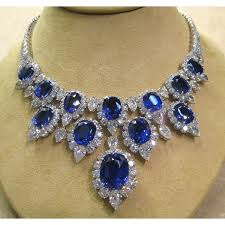 diamond necklace with sapphire images Harry winston diamond and sapphire necklace gems pinterest jpg