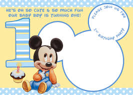 cool mickey mouse 1st birthday invitations free printable