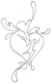 24 best corler bleeding heart tattoo designs drawing images on