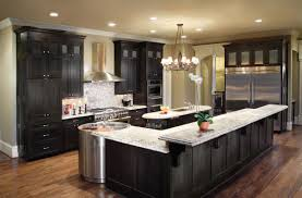 modern black kitchens black kitchen cupboards high exposed beam ceiling round black bar