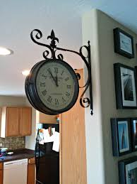 station double sided clock would be great to hang over the