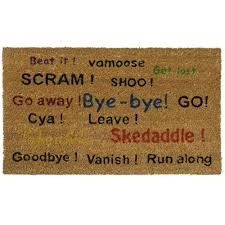 doormat funny vinyl backed coco mats amazing funny doormats ideas doormat go