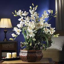 flower arrangement large cymbidium silk flower arrangement free shipping today