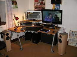 clever desk ideas clever design l shaped gaming desk stylish ideas 13 best gaming