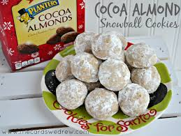 cocoa almond snowball cookie the cards we drew