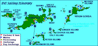 map of the bvi map bvi 7 day sailing itinerary vacation sailing