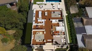 virtual mobile brochure established property drone bird view 3d