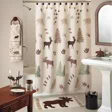 Outhouse Shower Curtain Hooks Wilderness Lodge Shower Curtain Collection Cabin Place