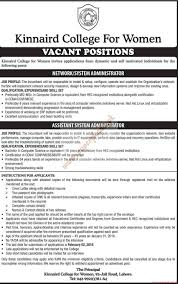 Sample Resume For Fresher Accountant by Kinnaird College For Women Jobs The News Jobs Ads 24 January