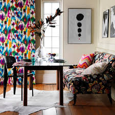 Colorful Patterned Curtains 25 Pretty Patterned Interiors Interiors Colorful Curtains And Room