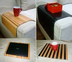 sofa tray table natural wood coffee table armrest table cover for