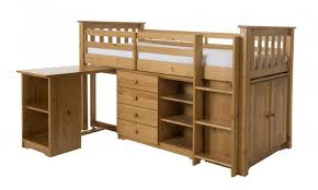 Mid Sleeper Bunk Bed Beds Cabin Beds Pine Midsleeper Bed With A Cupboard