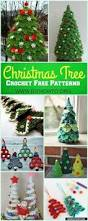 mini christmas tree free crochet pattern christmas decorations