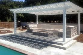 outdoor living room travertine sofa with firepit paradise pools