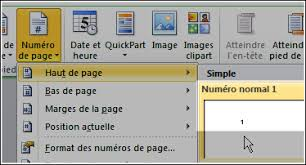 word 2013 clipart word num罠roter les pages 罌 partir d une certaine page