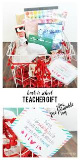 Teacher Gift Basket Back To Teacher Gift Laura U0027s Crafty Life