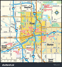 Flint Michigan Map by Flint Michigan Area Map Stock Vector 144494302 Shutterstock