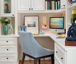 Corner Office Designs And Space Saving Furniture Placement - Small home office designs