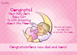 congratulations on new card free congratulations e card on birth of baby girl new