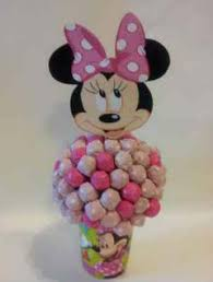 minnie mouse center pieces minnie mouse cany bouquet candy buffet centerpiece