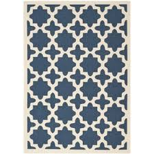 Safavieh Outdoor Rugs Safavieh Courtyard All Weather Navy Beige Indoor Outdoor Rug 8