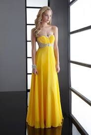 Canary Yellow Dresses For Weddings Yellow Gown Dressed Up