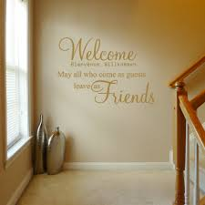 welcome may all who come v2 wall decal sticker quote lounge