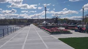 gloucester new seawall new walkway new railings new flowerbeds on