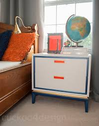 midcentury modern nightstand makeover cuckoo4design