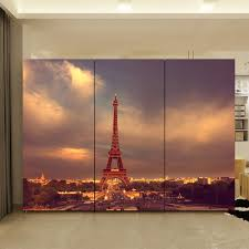 popular life size wall murals buy cheap life size wall murals lots yazi customized size eiffel tower pvc wallpaper mural bedroom wardrobe sliding closet door sticker window glass
