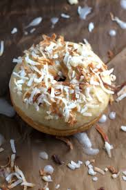glazed coconut donuts baker by nature