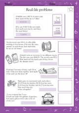 word problems choose the operation i math practice worksheet