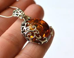 amber necklace pendant images Amber jewelry etsy jpg
