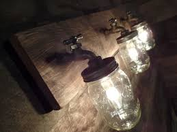 24 3 mason jar light fixture faucet style country
