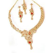 necklace set gift box images Buy jewellery hut 1k gold plated necklace set with gift box for jpg