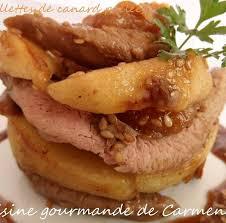 cuisiner aiguillettes de canard recette aiguillettes de canards poêlées aux pommes et abricots