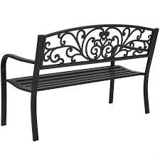 Metal Garden Chairs Bench Patio Metal Garden Furniture Deck Porch Seat Backyard Park Chair