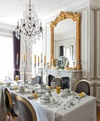 dining room enchanting french dining room designs with big mirror