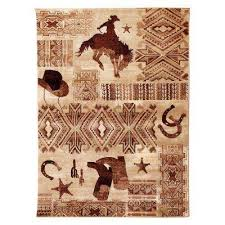 Cowboy Area Rugs Donnieann 8 X 10 Area Rugs Rugs The Home Depot