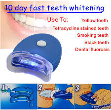how to use teeth whitening kit with light cool white led light professional home use teeth whitening system