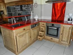 cuisine sur mesure pas cher cuisine plan de travail bois équipée sur mesure pas cher