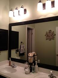 Frameless Bathroom Mirrors by Bathroom Black Framed Large Bathroom Mirror With Fine Light