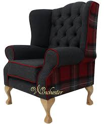 Tartan Chesterfield Sofa Chesterfield Frederick Wing Chair Fireside High Back Armchair
